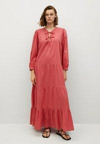 Mango - VIOLET - Maxi dress - erdbeerrot - 0