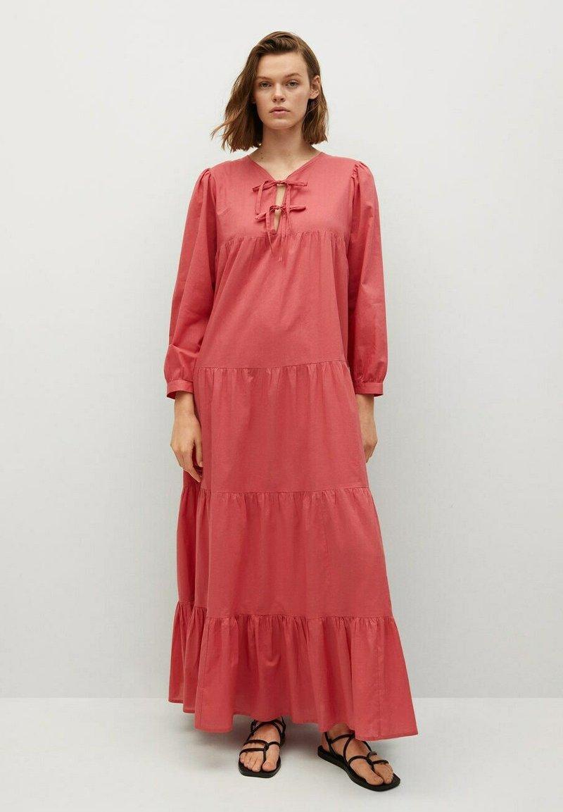 Mango - VIOLET - Maxi dress - erdbeerrot