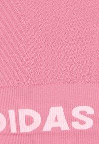adidas Performance - AEROKNIT BRA - Sujetadores deportivos con sujeción ligera - hazy rose - 2