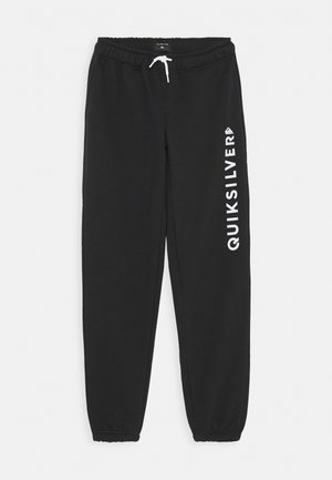 TRACK SCREEN YOUTH - Tracksuit bottoms - black