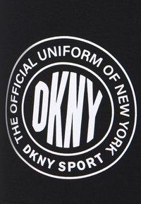 DKNY - SPLIT LOGO HIGH WAIST BIKE SHORT - Collants - black/white - 5