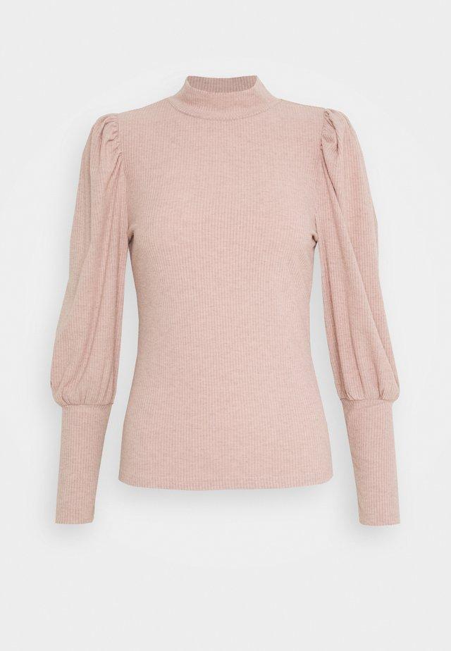 ONLTIFFANY  - Long sleeved top - mahogany/rose