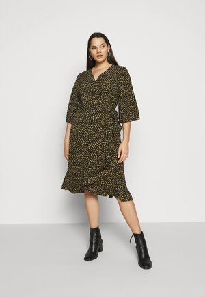 CARLUXIVY 3/4 WRAP CALF DRESS - Denní šaty - black