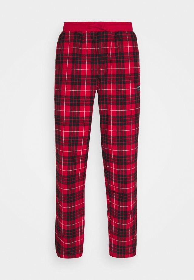 BIG CHECK PYJAMA PANT PERCY - Pyjamasbyxor - true red