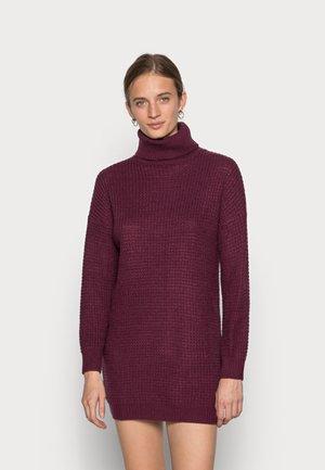 ROLL NECK DRESS - Jumper dress - burgundy