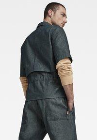 G-Star - GSRR CROPPED LINED SHIRT - Overhemd - wakoucha denim raw denim - 2
