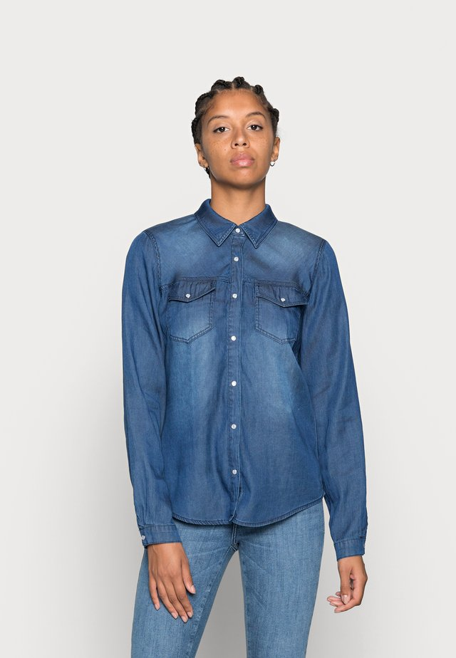 Skjorte - blue denim