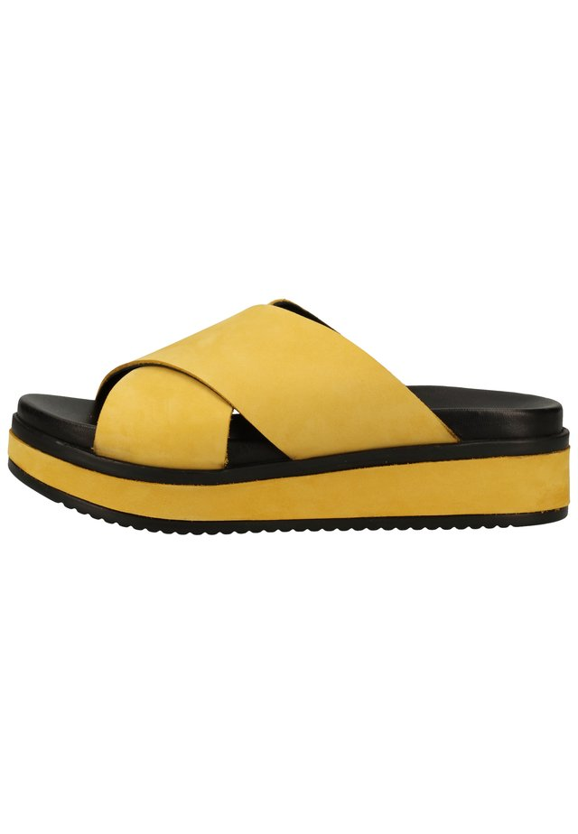 Mules - yellow 6056