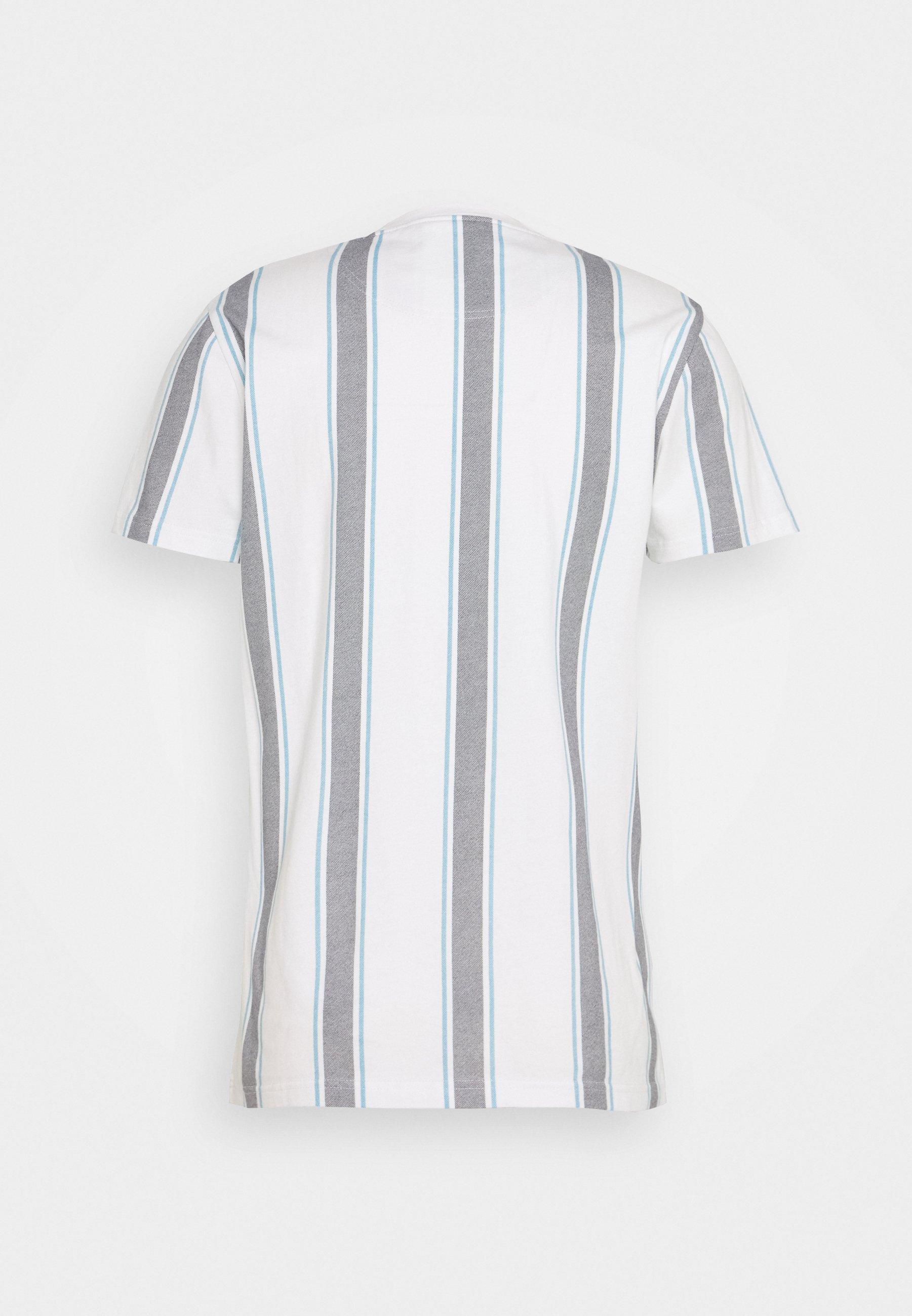 Hollister Co. Menswear Crew - T-shirt Z Nadrukiem White/navy