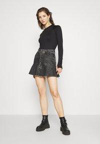 Diesel - DE BETHY SKIRT - Denim skirt - washed black - 1