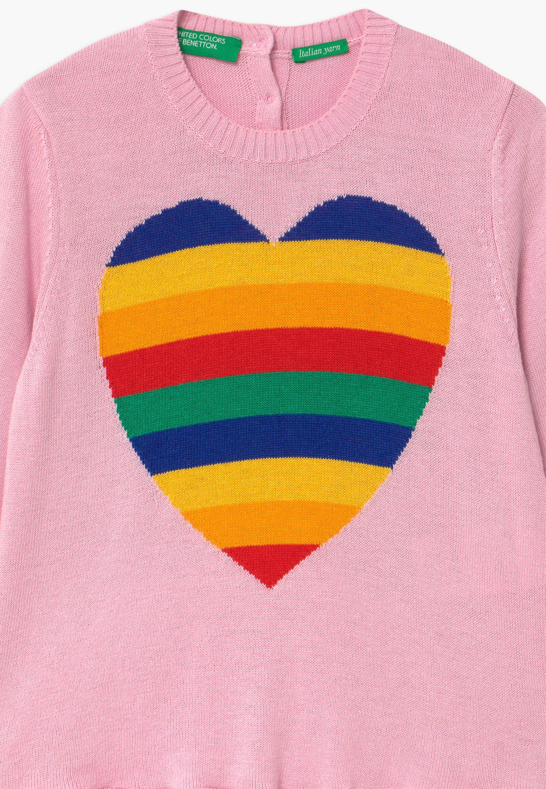 Benetton Sweter - pink - Ubranka dla dzieci