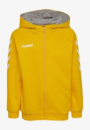 HMLGO - Zip-up hoodie - sports yellow