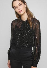 KARL LAGERFELD - Button-down blouse - black - 4