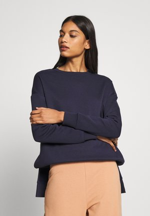 BASIC CREW NECK SWEATSHIRT - Sweatshirt - dark blue