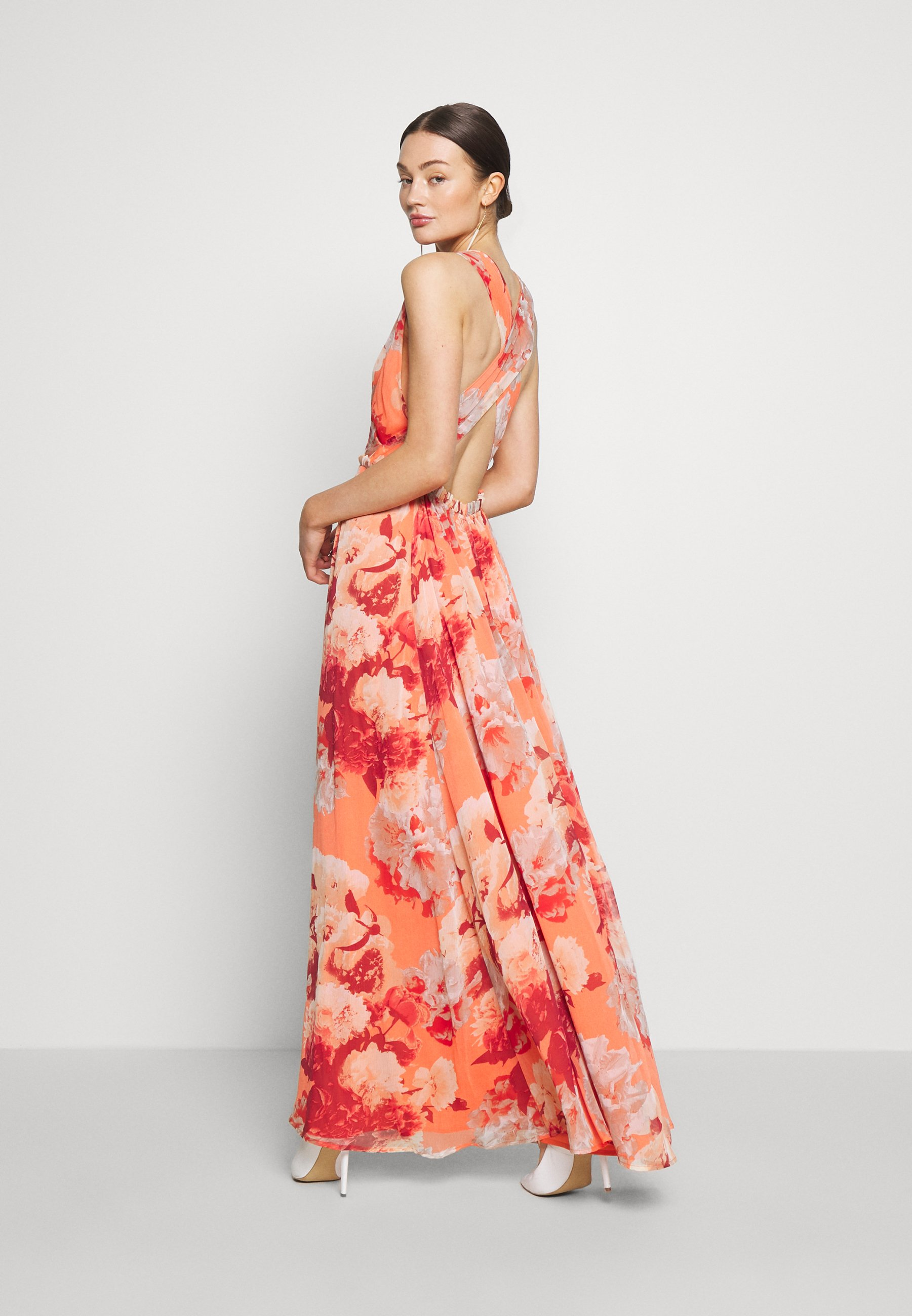 YAS YASROSETTA MAXI DRESS SHOW - Robe longue - nasturtium - Robes femme PMn7X