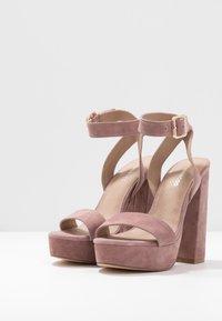 Even&Odd - LEATHER - High heeled sandals - rose - 4