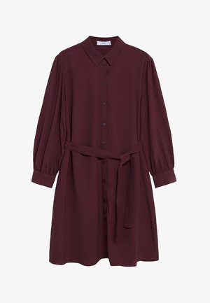 LEANDRA - Shirt dress - granátová