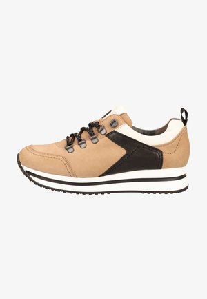 Sneakers laag - light brown/black