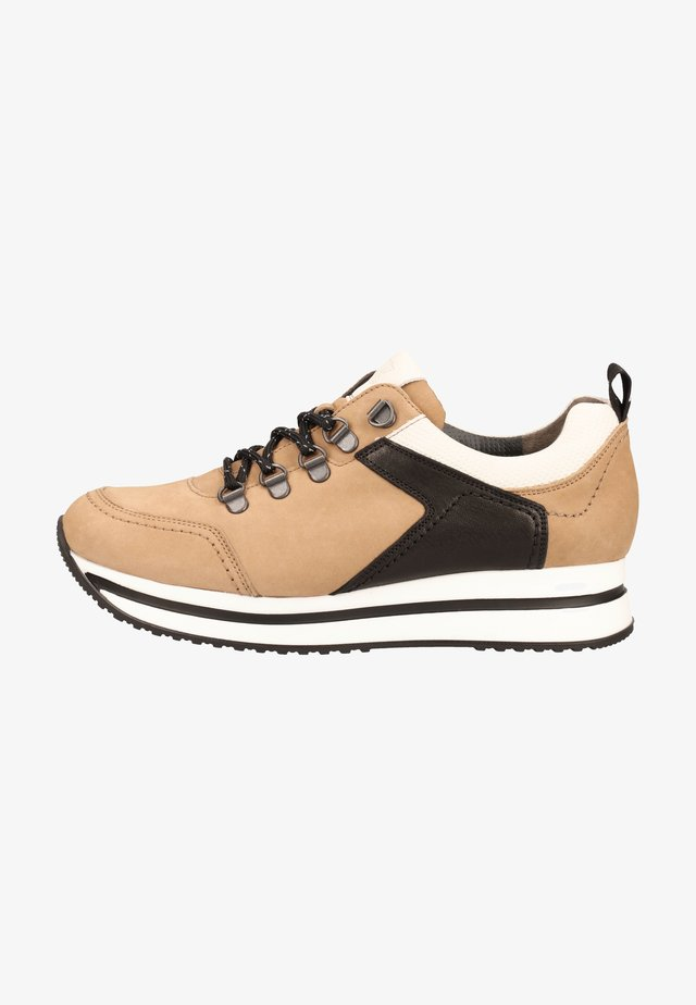 Sneakers laag - light brown/black