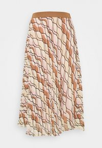 More & More - SKIRT MIDI - A-line skirt - powder creme/multicolor - 1