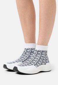 Calvin Klein - BEAUDAN - High-top trainers - white/black - 0