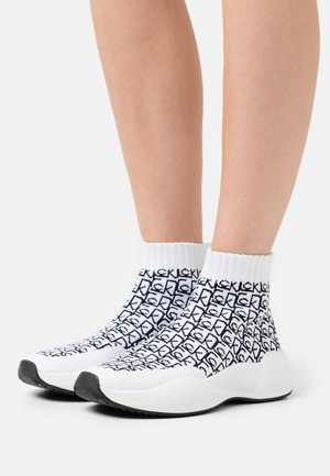 BEAUDAN - Baskets montantes - white/black