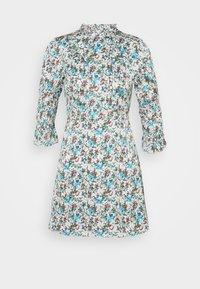 Glamorous Petite - HIGH NECK SHIRRED LONG SLEEVE MINI DRESS - Korte jurk - confetti floral - 0