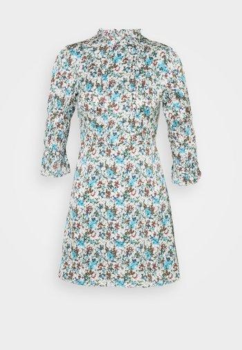 HIGH NECK SHIRRED LONG SLEEVE MINI DRESS - Kjole - confetti floral
