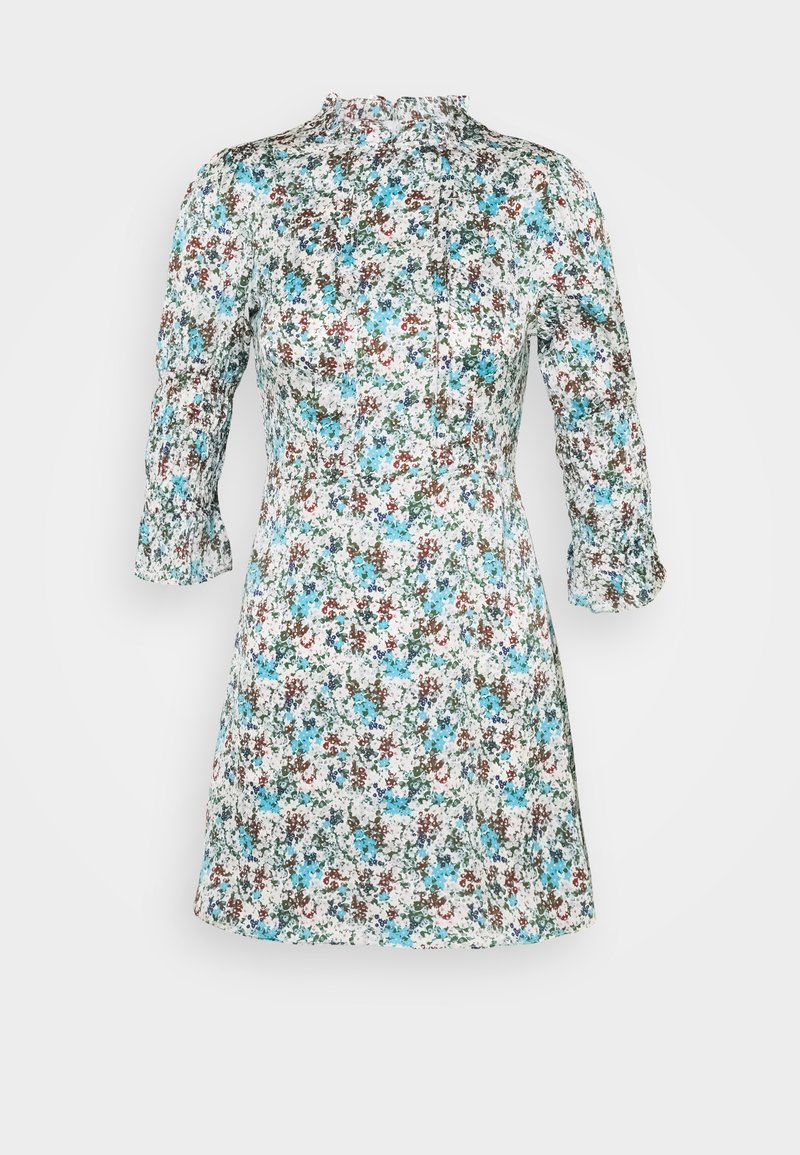 Glamorous Petite - HIGH NECK SHIRRED LONG SLEEVE MINI DRESS - Korte jurk - confetti floral