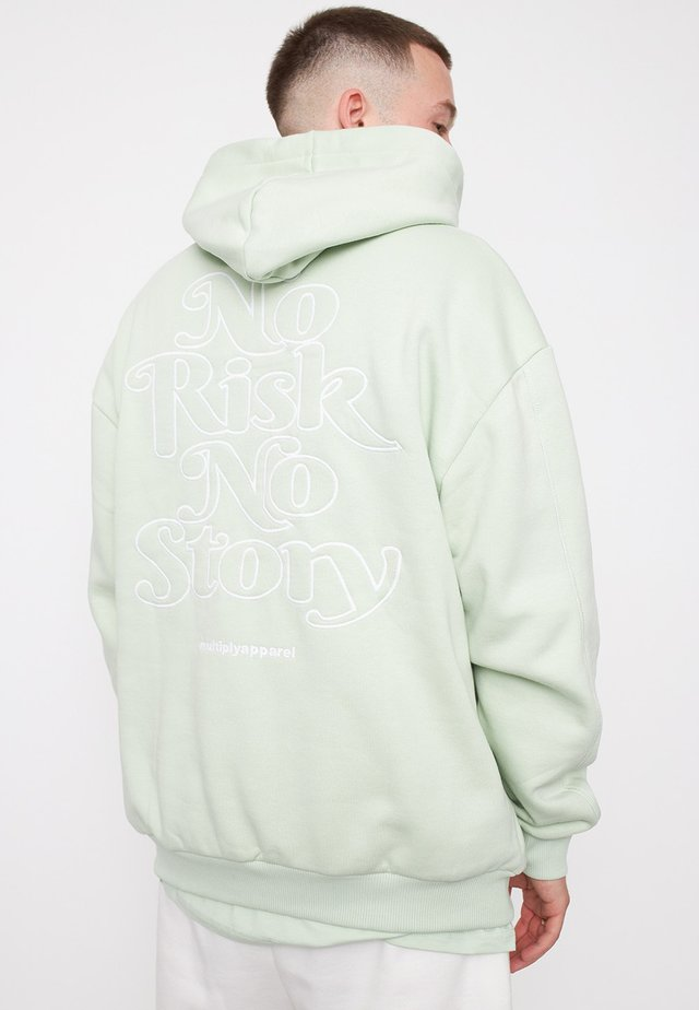 NO RISK NO STORY - Hoodie - mint