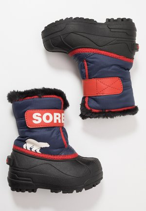 CHILDRENS - Snowboots  - nocturnal/sail red