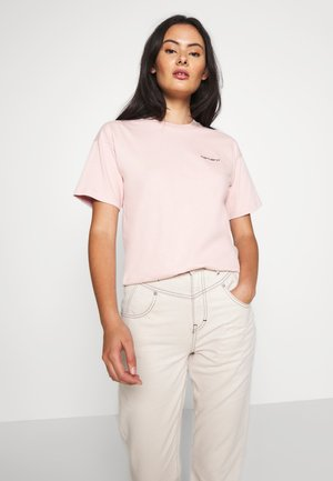 SCRIPT EMBROIDERY - T-shirt - bas - frosted pink/black