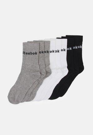 ACT CORE MID CREW SOCK 9 PACK UNISEX - Träningssockor - black/white/medium grey heather