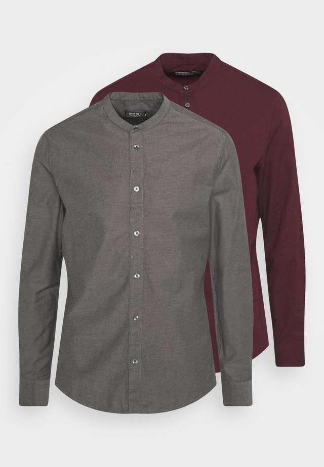 LONG SLEEVE OXFORD GRANDAD 2 PACK - Skjorte - bordeaux
