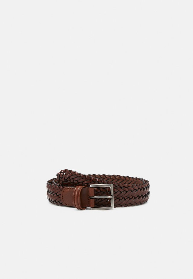 BELT UNISEX - Palmikkovyö - brown