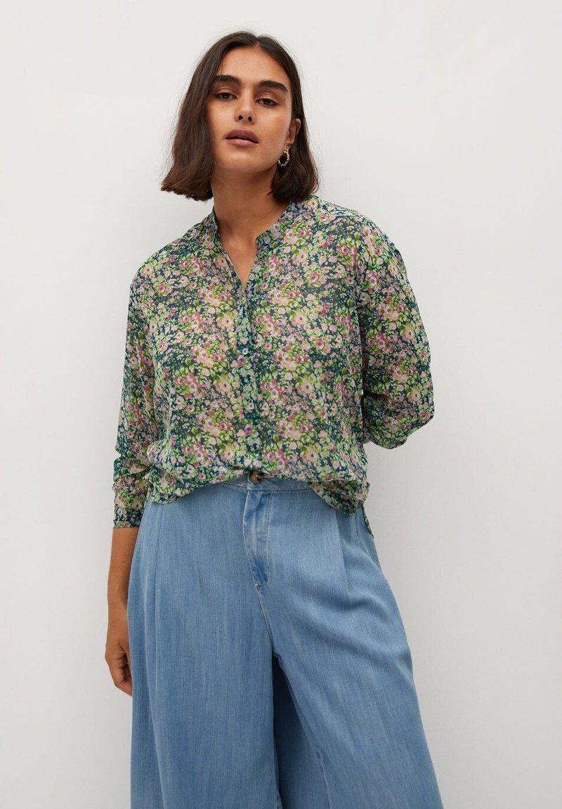 Violeta by Mango - AURELIA - Button-down blouse - grün