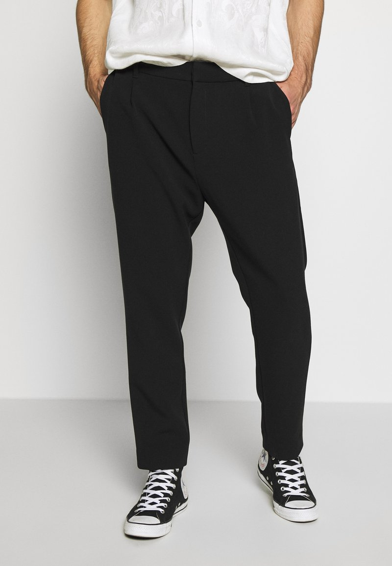 Weekday - MARD TROUSERS - Stoffhose - black