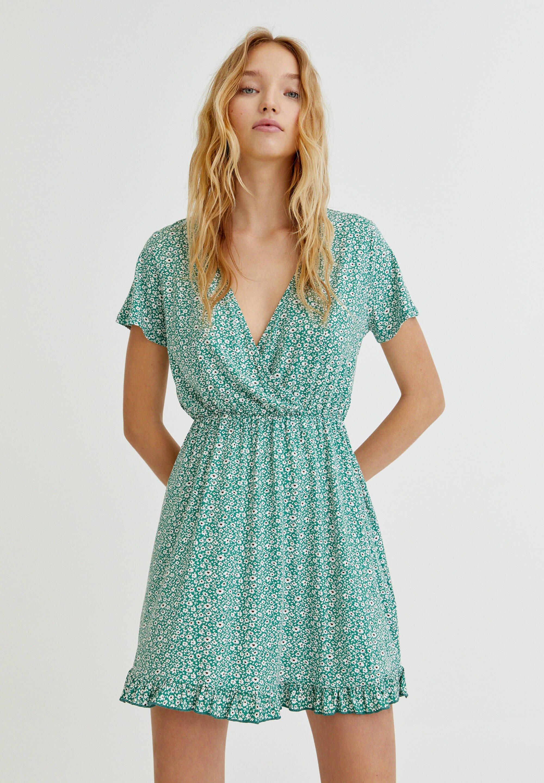 Femme MIT VOLANTS UND PRINT - Robe d'été