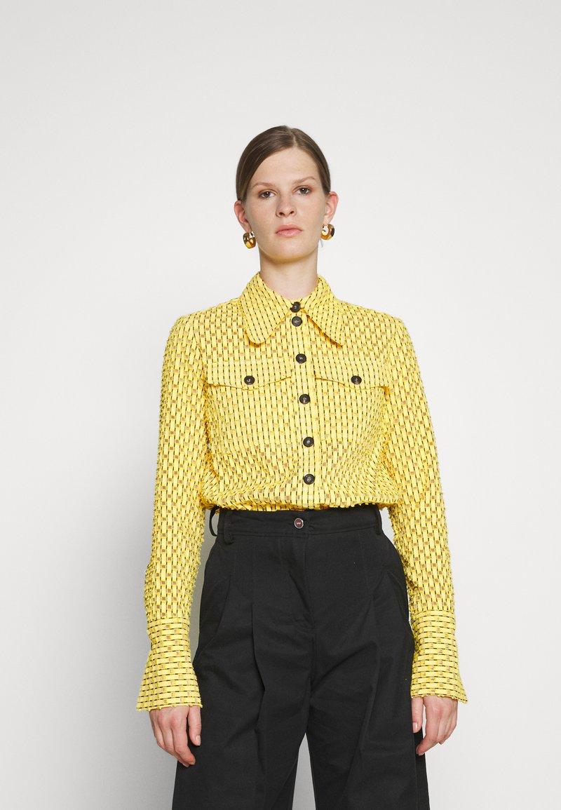 Victoria Victoria Beckham - PATCH POCKET SHIRT - Blouse - sicilian lemon