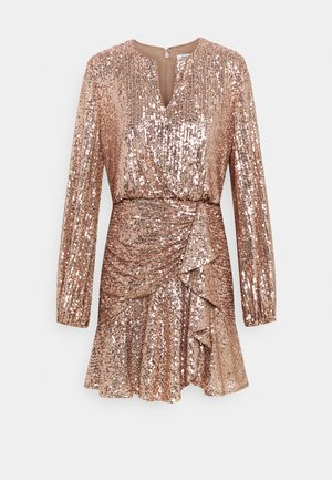 ANDREA FLIPPY MINI DRESS - Robe de soirée - copper