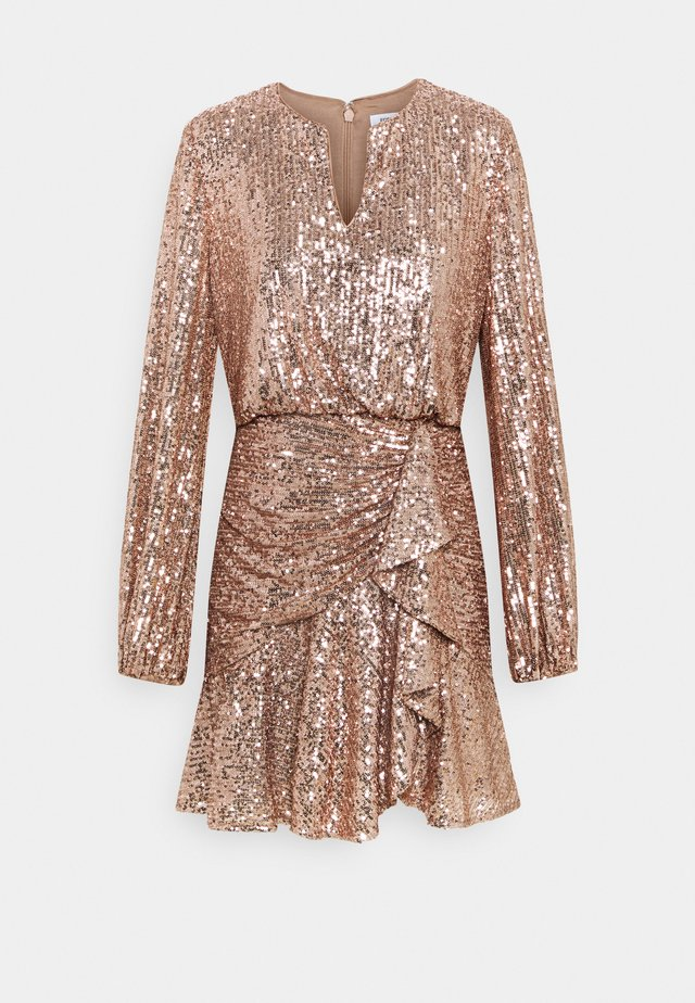 ANDREA FLIPPY MINI DRESS - Juhlamekko - copper