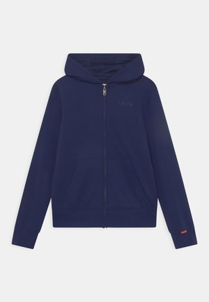 RELAXED CORE FULL ZIP HOOD - Sweater met rits - peacoat