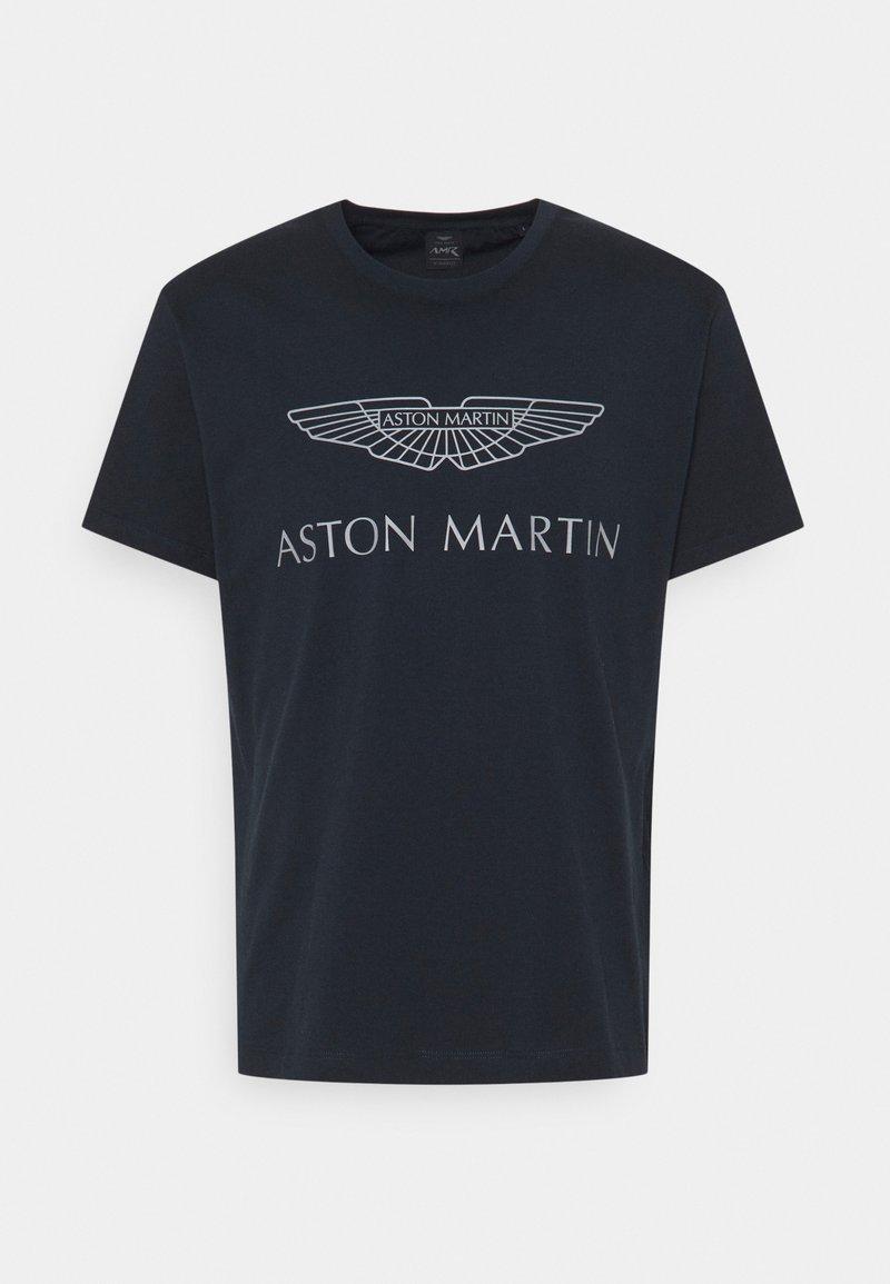 Hackett Aston Martin Racing - LOGO TEE - Camiseta estampada - navy