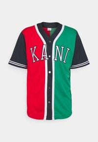 Karl Kani - COLLEGE BLOCK BASEBALL - Skjorta - red - 4