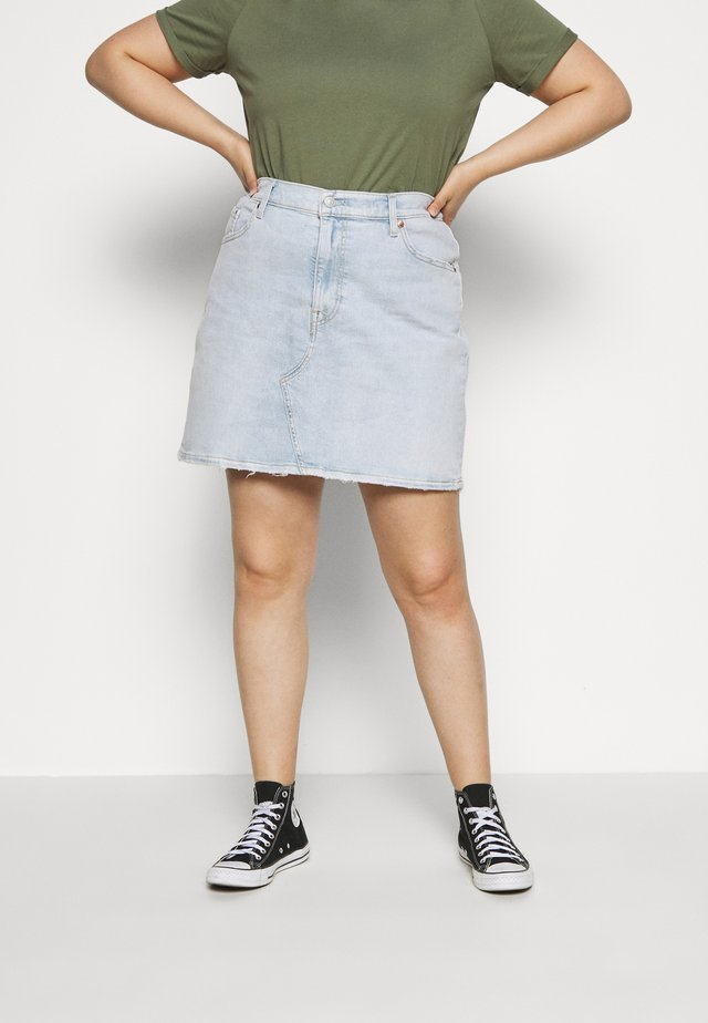 DECONSTRUCTED SKIRT - Farkkuhame - light-blue denim