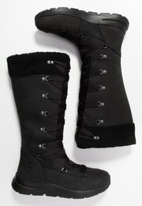 Timberland - MABEL TOWN WP TALL MUKLUK - Lace-up boots - black - 3