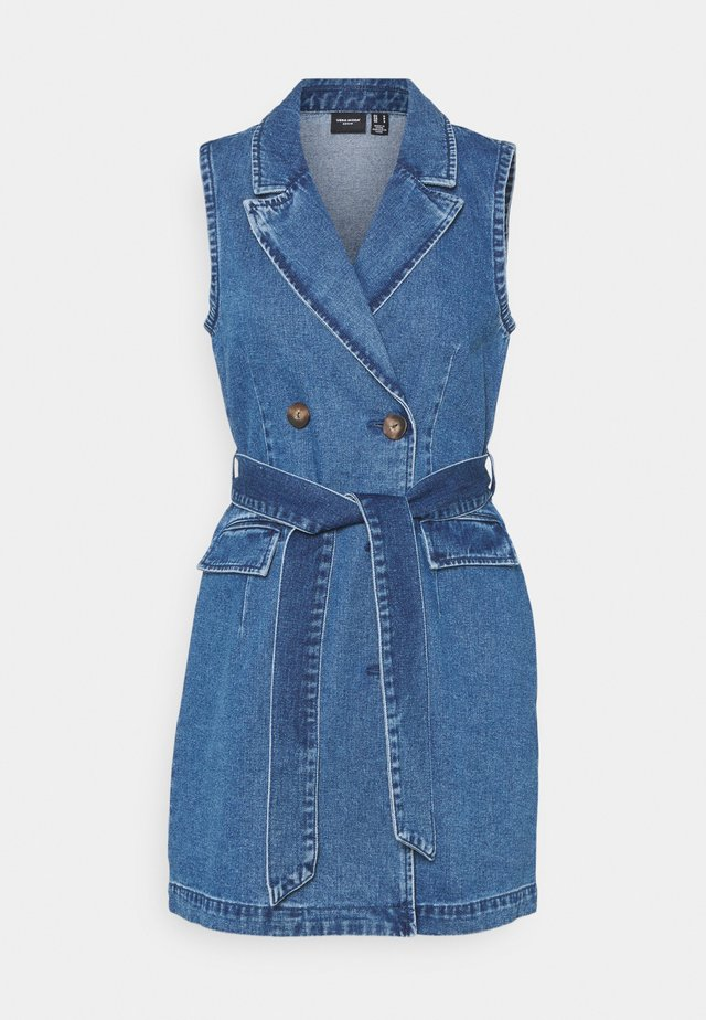 VMTAILOR DRESS - Spijkerjurk - medium blue denim