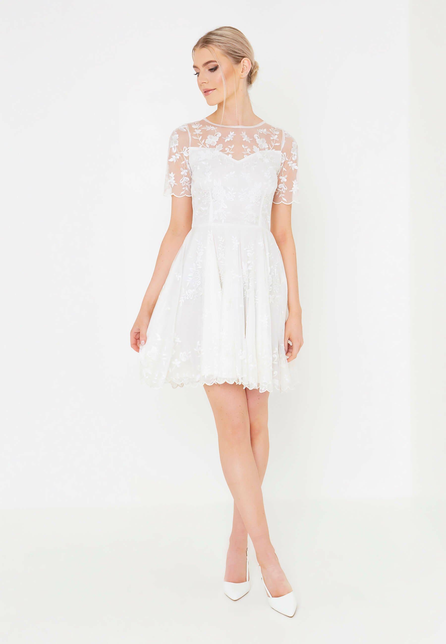 Beauut Cocktailkleid Festliches Kleid White Weiss Zalando De