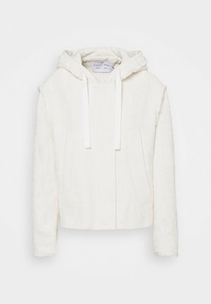 TEXTURED HOODED JACKET - Lehká bunda - white