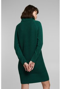 edc by Esprit - COWL NECK - Jumper dress - dark teal green - 2